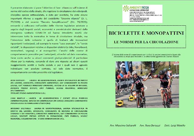 ambiente rosa Biciclette e Monopattini le regole per la circolazione