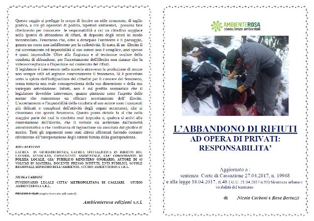 ambiente rosa consulenze ambientali libro Abbandono dei rifiuti ad opera dei privati: responsabilità