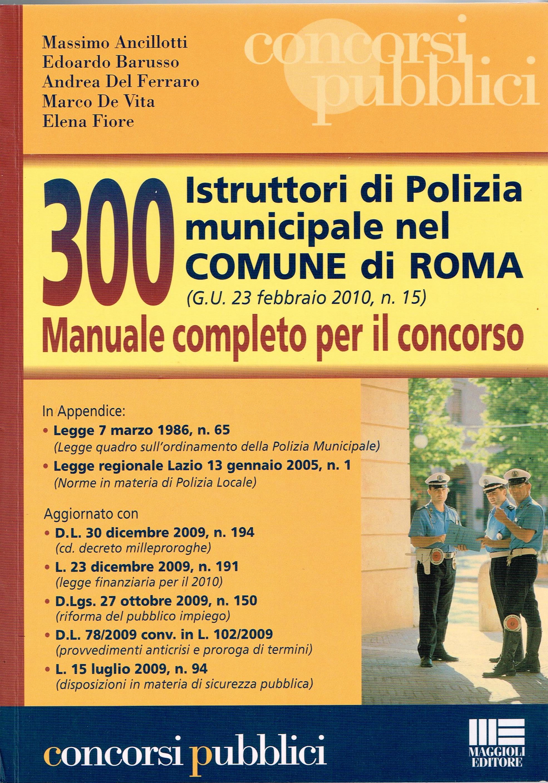 Istruttori di Polizia Municipale nel COMUNE di ROMA