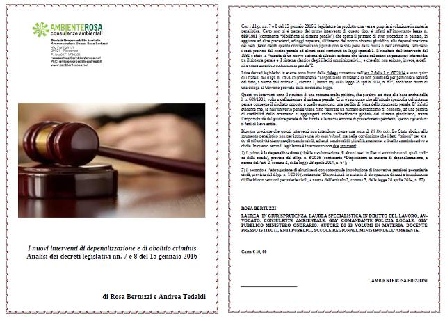ambiente rosa consulenze ambientali interventi depenalizzazione abolito criminis