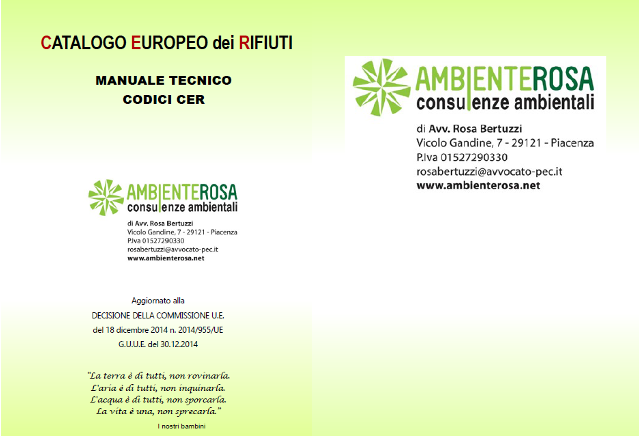 ambiente rosa consulenze ambientali codici CER