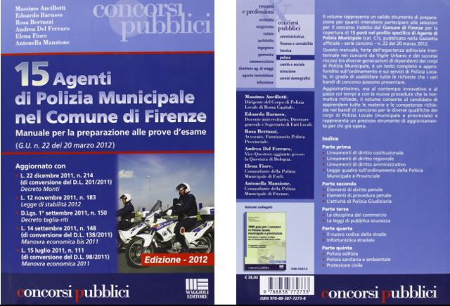ambiente rosa consulenze ambientali_libro 15 agenti di polizia municipale nel comune di firenze