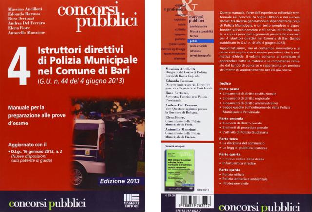 ambiente rosa consulenze ambientali libro 4 istruttori direttivi di polizia municipale nel comune di bari