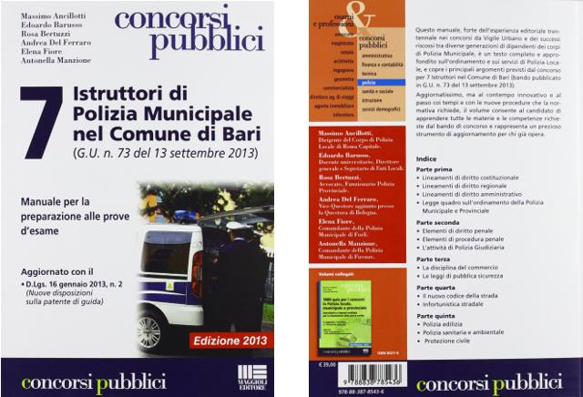ambiente rosa consulenze ambientali libro 7 istruttori di polizia municipale mel comune di bari
